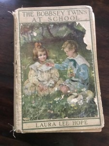 a picture of my old (antique) copy of The Bobbsey Twins at School by Laura Lee Hope