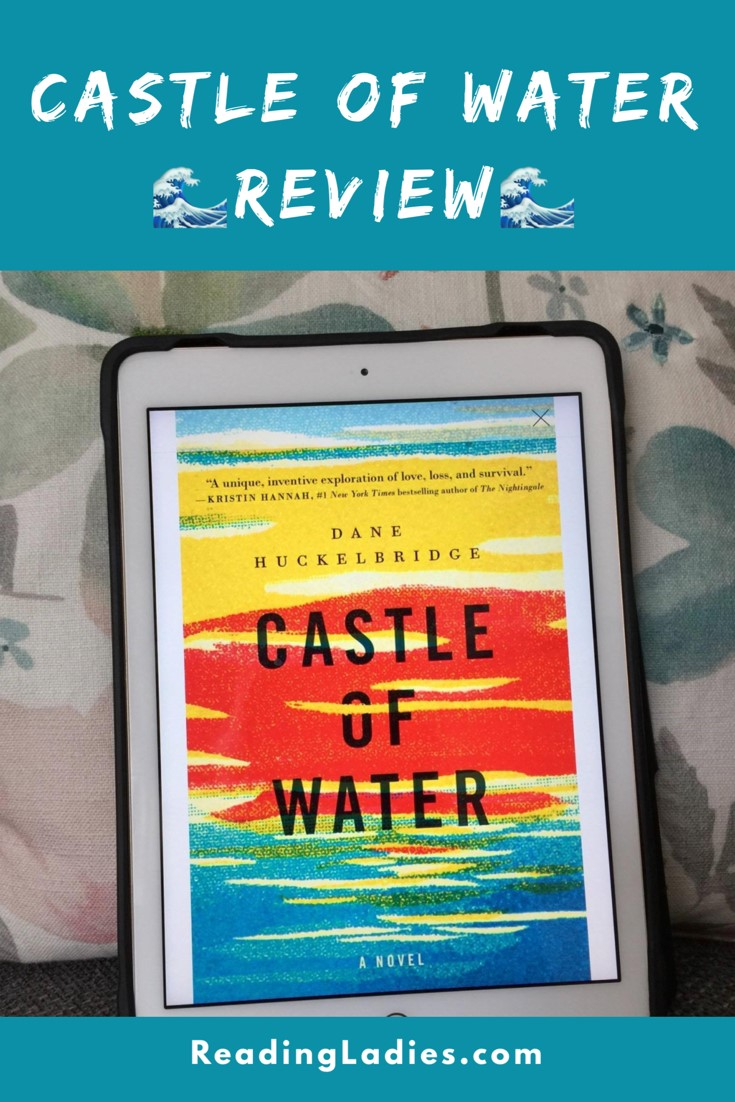 Castle of Water by Dane Hucklebridge (kindle propped against a softly muted floral pillow shows cover)