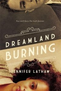 Dreamland Burning by Jennifer Lathan (two portraits of a boy and a girl in sepia tones)