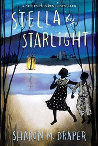 Stella by Starlight cover (two young African American girls watching a cross burn)