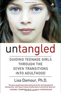 Untangled by Lisa Damour (cover) headshot of a teenage girl above the heading and subjeading