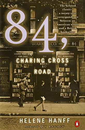 84, Charing Cross Road by Jelene Hanff (cover) Image: sepia toned picture of a London bookstore