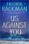 Us Against You by Fredrik Backman (cover) Image: a snowy small village set at the base of mountains