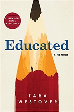 Educated by Tara Westover (cover) Image: a giant sharpened pencil as background