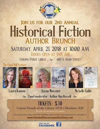 Histfic author brunch flyer