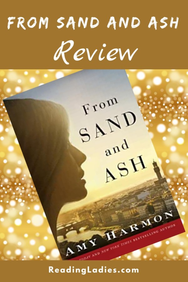 From Sand and Ash by Amy Harmon (cover) Image: a young woman in profile looking reflectively over a city