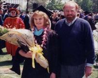 dad and me graduation