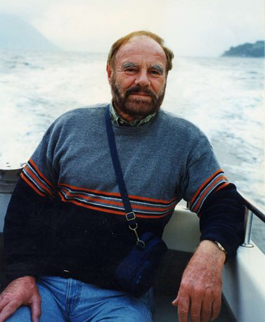 my dad on a fjord in Norway