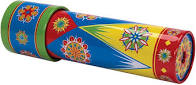 A child's brightly colored kaleidoscope