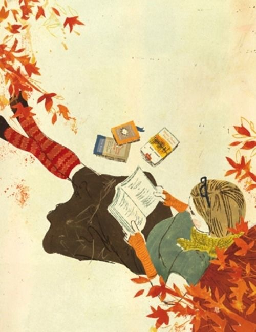 fall reading meme