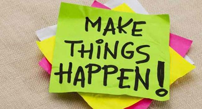 goal make things happen