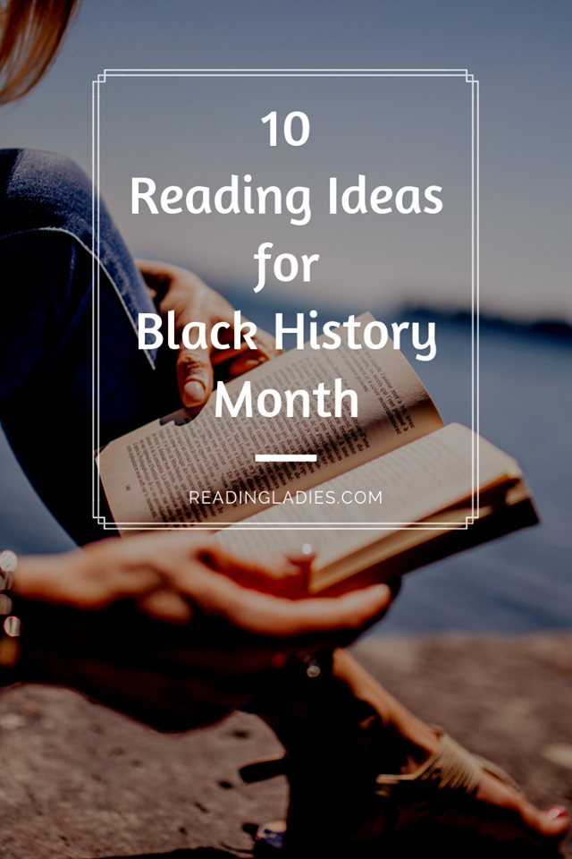 10 Reading Ideas for Black History Month (image: right focus on a woman's hands reading a book sitting by water)