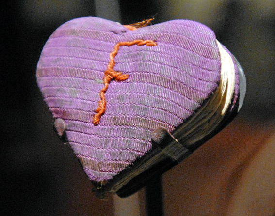 Hamdmade collection of heartshaped paper: Holocaust artifact