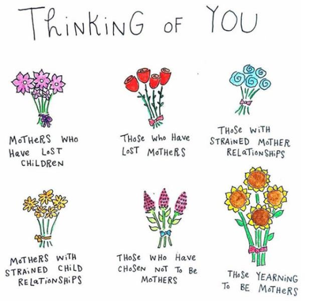 thinking of you on mother's day