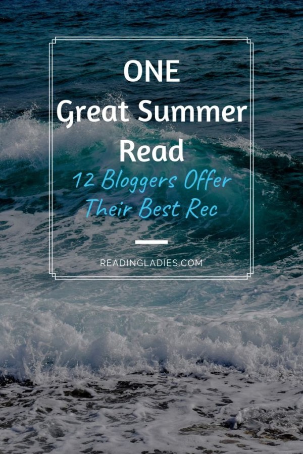 One Great Summer Read over an image of ocean waves breaking on shore