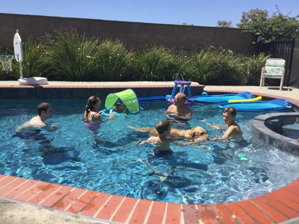 family swim day