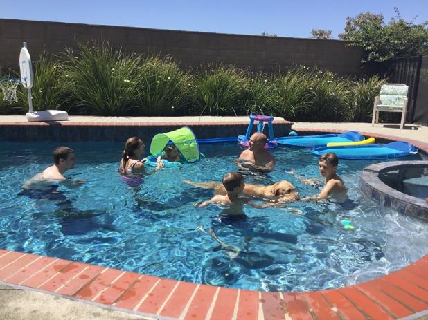family swim day