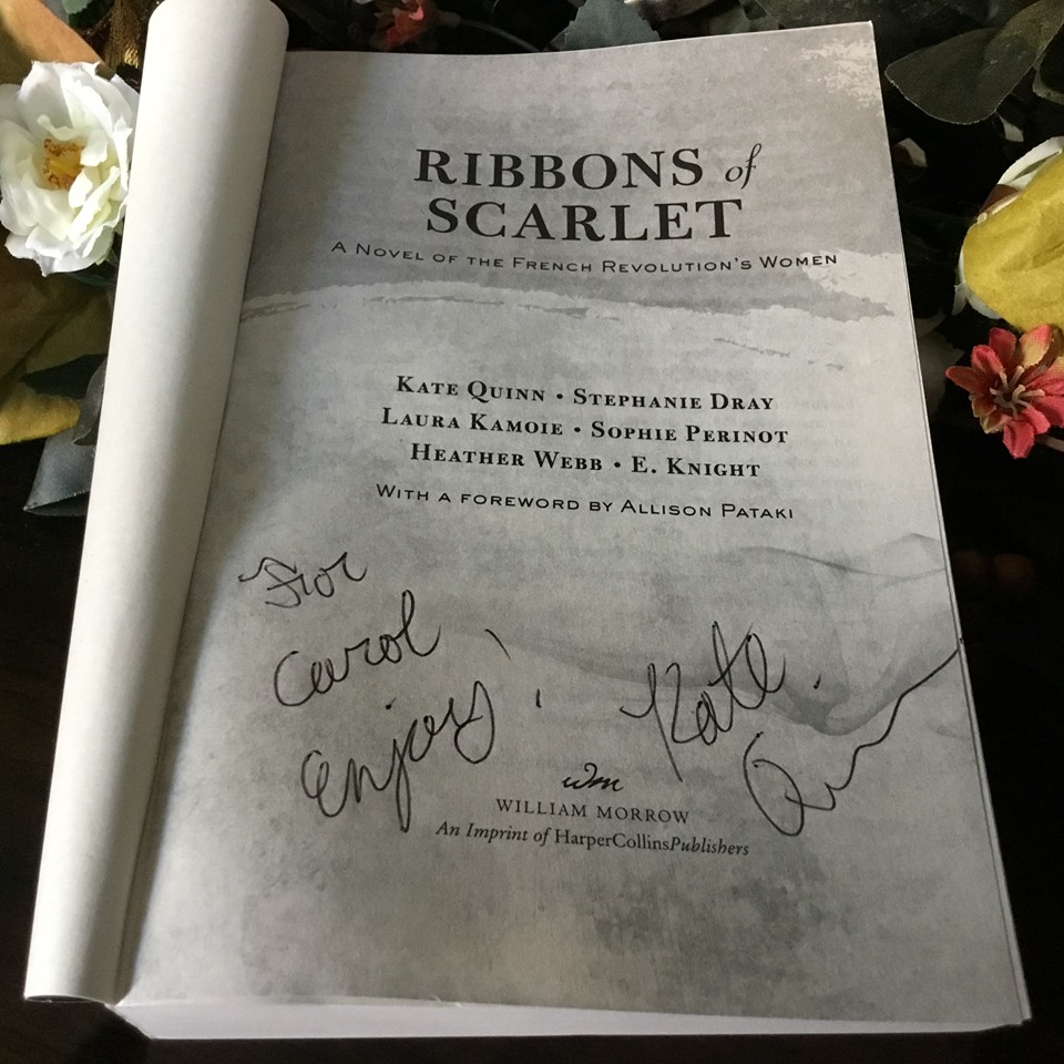 signed copy of Ribbons of Scarlet