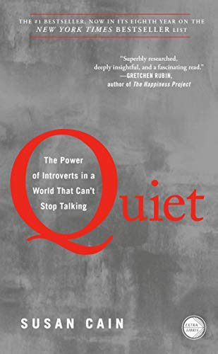 Quiet by Susan Cain (Cover: red lettering on a soft blue background)
