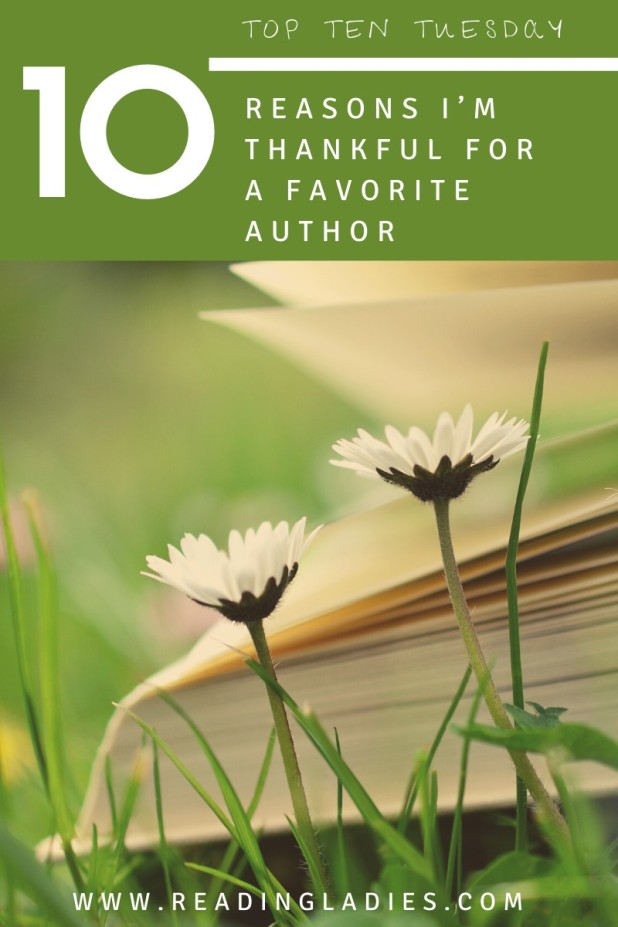 TTT 10 reasons I'm thankful for a favorite author