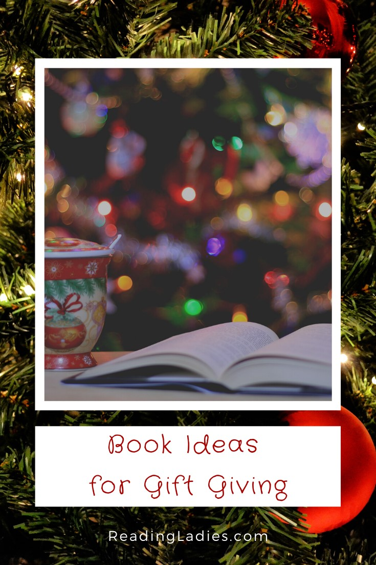 Book Ideas for Gift Giving (Christmas coffee cup and Christmas tree and lights image)