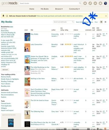 goodreads report edit