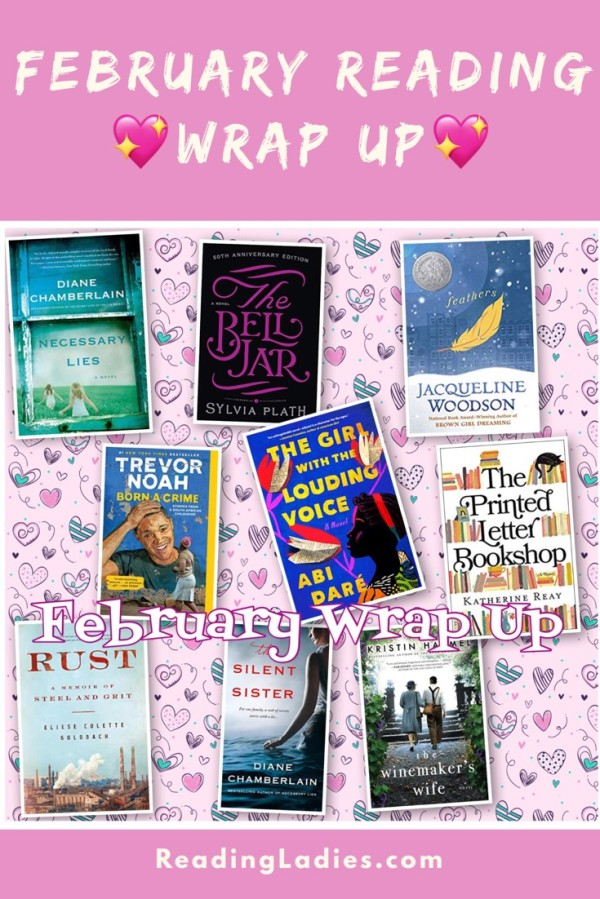 February 2020 Reading Wrap Up (a collage of nine book covers talked about in the post)
