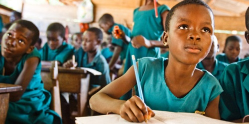 Classroom in Nigeria (focus on school girl in Nigeria)