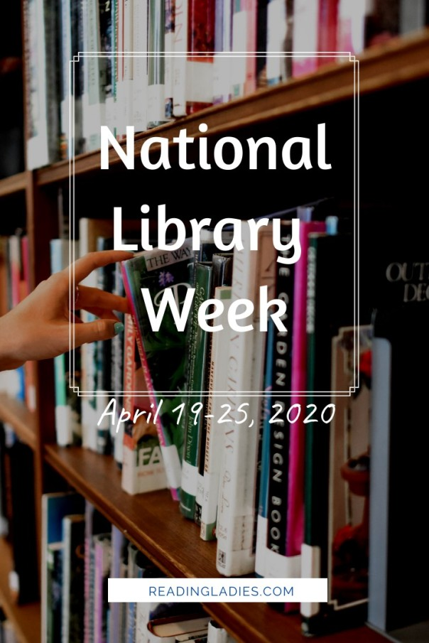 National Library Week (2020) Image: closeup of a hand chosing a book from a library shelf