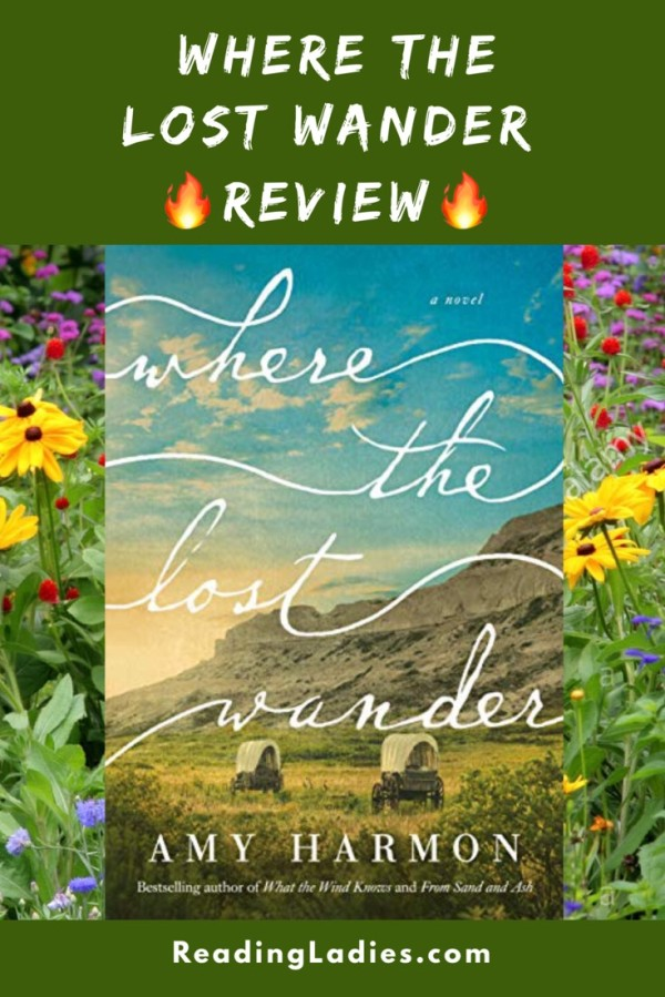 Where the Lost Wander by Amy Harmon (cover) Image: Two covered wagons crossing a prairie