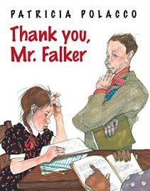 Thank You, Mr. Falker by Patricia Polacco (image: a male teacher helps a struggling female student)