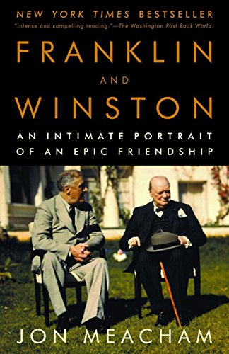Franklin and Winston by Jon Meacham (cover) Image: Franklin and Winston sit in chairs on a lawn