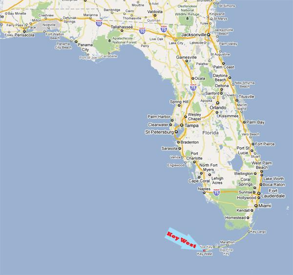location of Key West, Florida