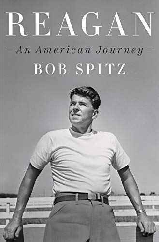Reagan: An American Journey by Bob Spitz (cover) Image: a young Reagan leans against a fence looking ahead and to his right