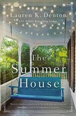 The Summer House (cover) Image: blue wooden porch swing on a wide white porch