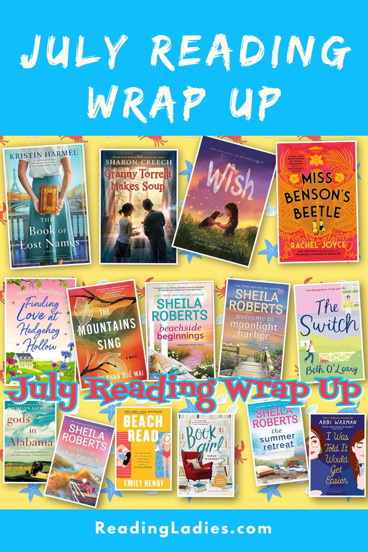 July Reading Wrap Up (a collage of covers)