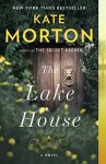 The Lake House by Kate Morton (cover) Image: an old wooden door with an old fashioned brass knocker surrounded by foilage