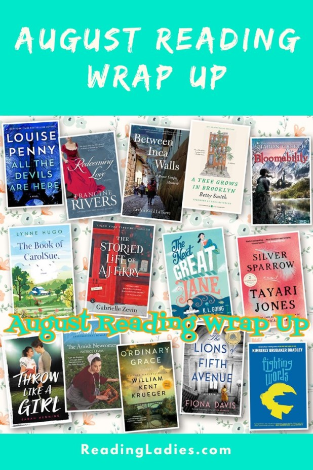 August 2020 Reading Wrap Up: A collage of titles