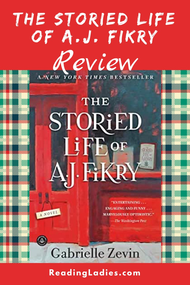 The Storied Life of AJ Fikry by Gabrielle Zevin (cover) Image: right shot of a bookstore's painted red door and window display