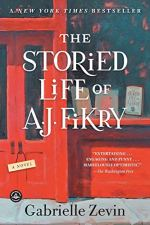 The Storied Life of A.J. Fikry by Gabrielle Zevin (cover) Image: a tight view of a bookstore window and a red door