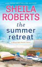 The Summer Retreat by Sheila Roberts (Image: a picnic is spread out overlooking the beach)