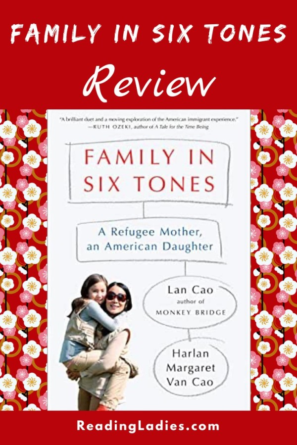 Family in Six Tones by Lan Cao (cover) Image: a mom holding a young girl