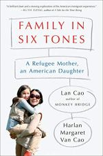 Family in Six Tones by Lan Cao (cover) Image: a mother hold her young daughter