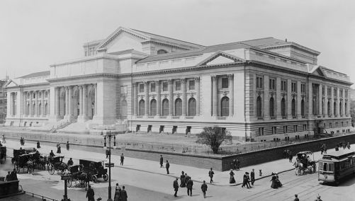 Construction of the NYC Library in 1908
