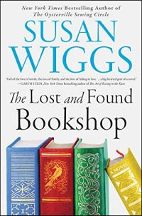 The Lost and Found Bookshop by Susan Wiggs (cover) Image: text plus 4 hardcover books