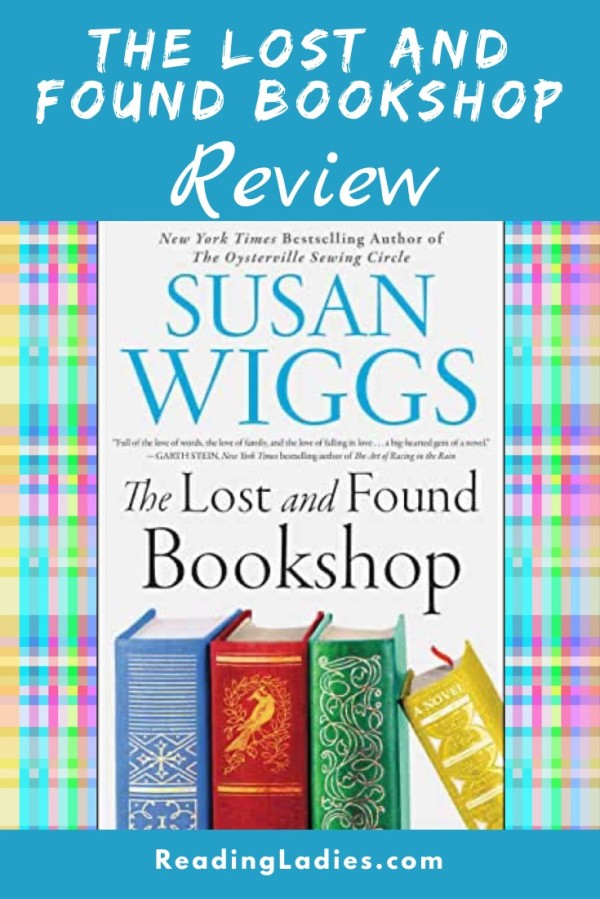 the Lost and Found Bookshop by Susan Wiggs (cover) Image: text plus four hardcover books