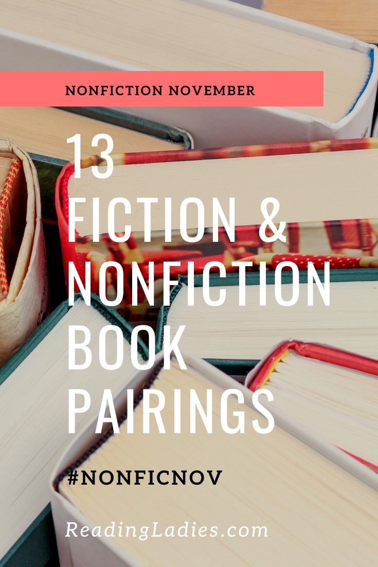 13 Fiction & Nonfiction Book Pairings (Image: a top view of an assortment of hardcover books)