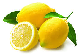 lemons (two whole and one cut)