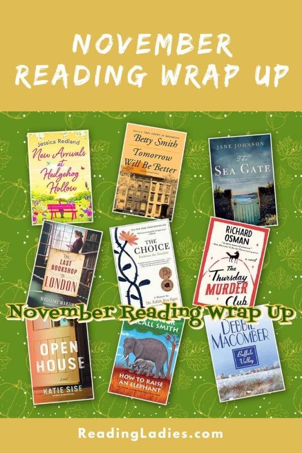 November 2020 Reading Wrap Up (Image: a collage of book titles)
