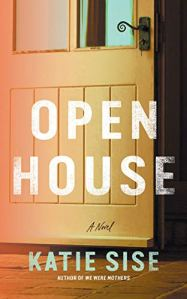 Open House by Katie Sise (cover) Image: white text over a tight shot of a slightly open door